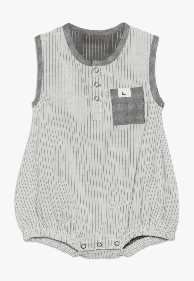 REVERSIBLE WOVEN STRIPE BUBBLE ROMPER BABY ZGREEN - Tutina - grey/black