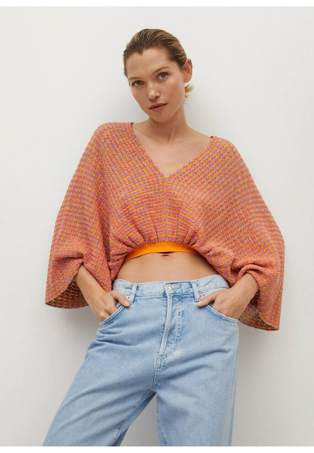 WITH OPENING - Jumper - orange