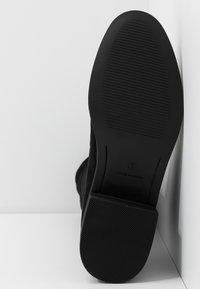 Dorothy Perkins - TRALLALA TIE BACK LONG STRETCH BOOT - Kozačky nad kolena - black - 6