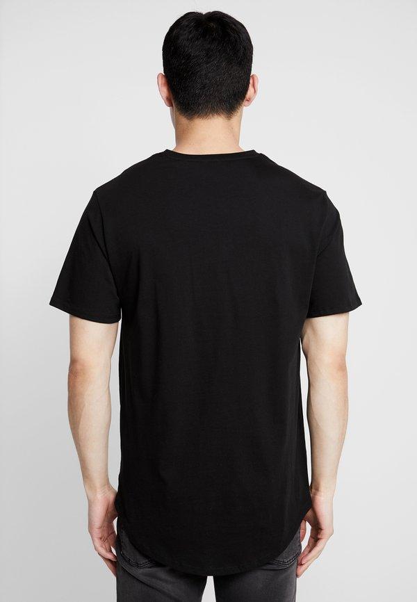 Only & Sons ONSMATT LONGY TEE 3 PACK - T-shirt basic - black/czarny Odzież Męska QMIL