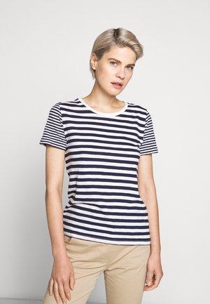 VINTAGE CREWNECK MIXED STRIPE - Print T-shirt - navy/ivory