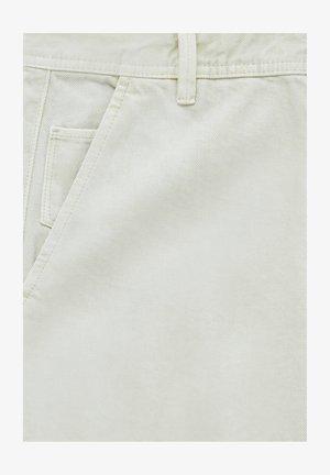Straight leg jeans - mottled beige