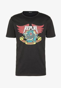 Replay - Camiseta estampada - black - 3