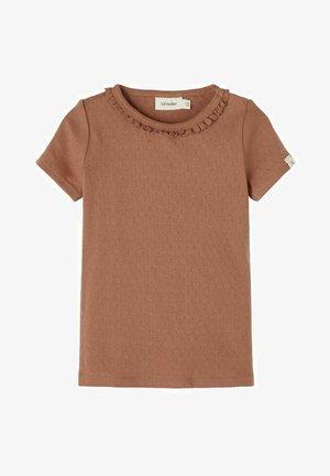 Print T-shirt - carob brown