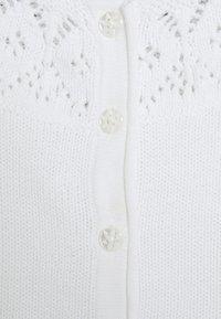 Name it - NBFNITIDA SHORT CARDIGAN BABY - Kardigan - bright white - 2