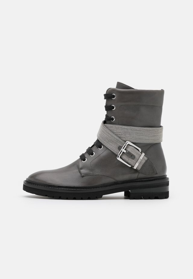 CHAIN ROAD - Lace-up ankle boots - grey