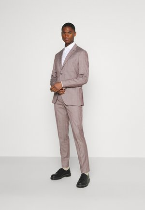 SLHSLIM KNOXLOGAN CHECK SUIT SET - Traje - red dahlia/white