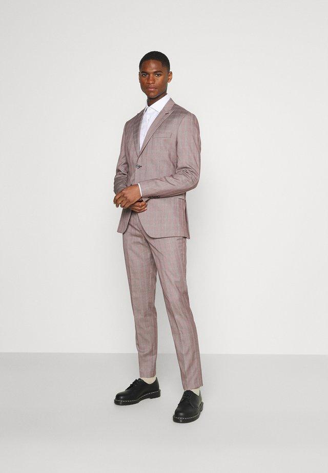 SLHSLIM KNOXLOGAN CHECK SUIT SET - Kostym - red dahlia/white