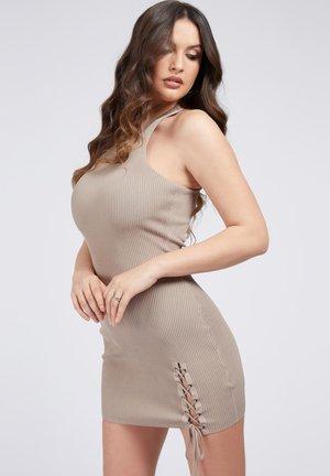 ALEXA TIE  - Shift dress - beige