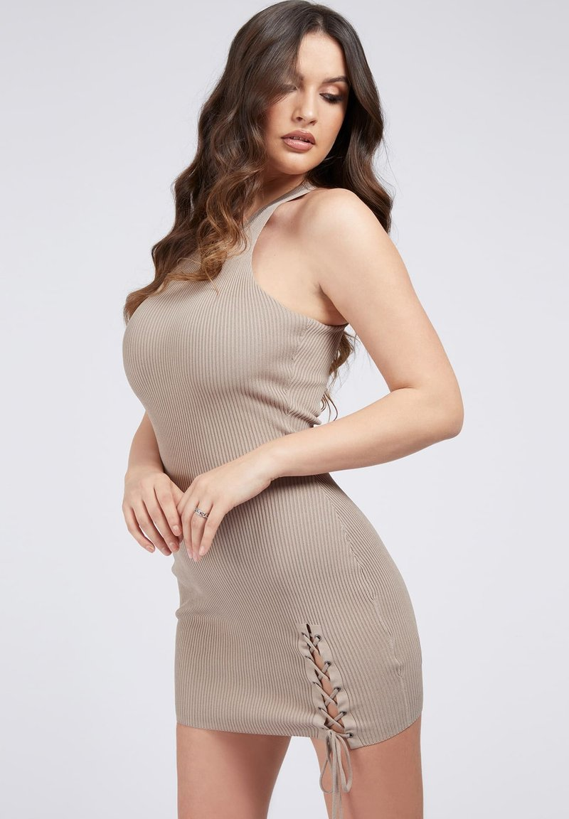 Guess - ALEXA TIE  - Shift dress - beige
