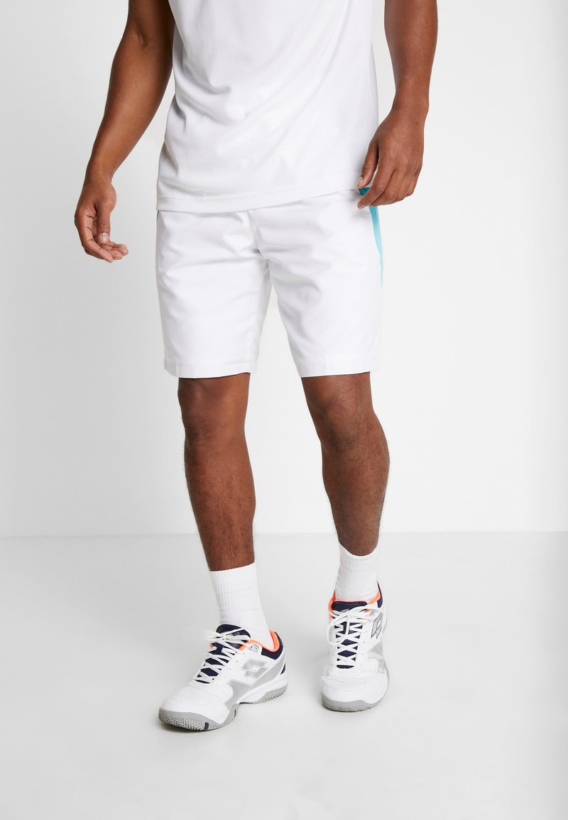Lacoste Sport - TENNIS - Sports shorts - white/obscurity haiti/blue lemon