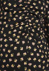 Miss Selfridge - DITSY POPLIN SQUARE NECK DRESS - Day dress - black - 5