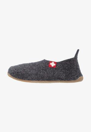 SLIPPER MIT SCHWEIZER KREUZ - Domácí obuv - anthrazit