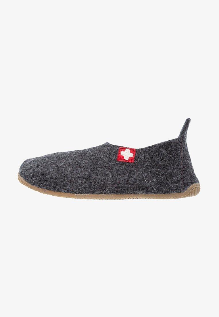 Living Kitzbühel - SLIPPER MIT SCHWEIZER KREUZ - Domácí obuv - anthrazit