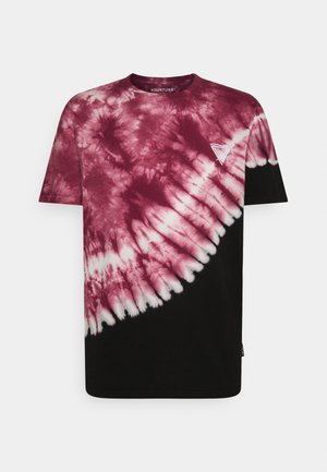 UNISEX - Print T-shirt - red/black