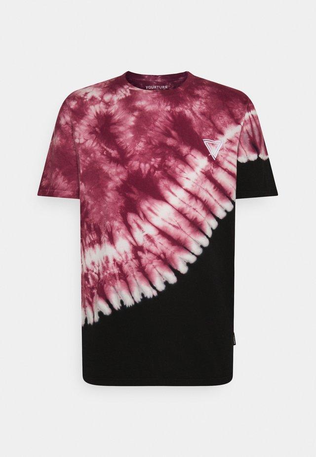 UNISEX - T-shirt med print - red/black