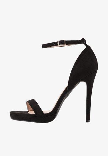 CRESSIDA - High heeled sandals - black