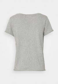 Marc O'Polo DENIM - SHORT SLEEVE V NECK - Basic T-shirt - grey melange - 1