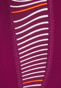 Speedo - ALLOVER PANEL LANEBACK - Swimsuit - deep plum/white/orange fizz - 5