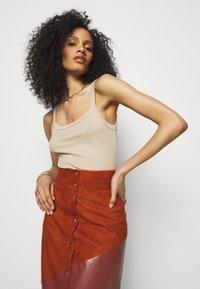 Bally - MIXED SKIRT - Maxi skirt - spice - 3