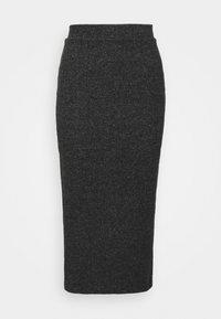 VILANO SLIT KNIT SKIRT - Pencil skirt - black