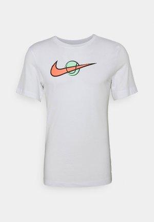 TEE TENNIS - T-shirt z nadrukiem - white