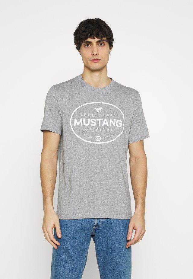 ALEX PRINT - Camiseta estampada - midgrey melange