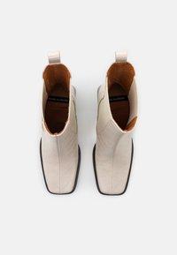 ÁNGEL ALARCÓN - High heeled ankle boots - crema - 5