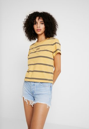 GRAPHIC SURF TEE - Print T-shirt - alyssa/ochre