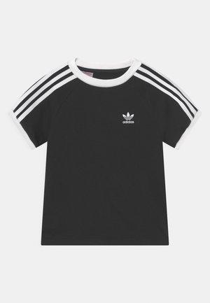 3 STRIPES TEE UNISEX - T-shirt imprimé - black/white