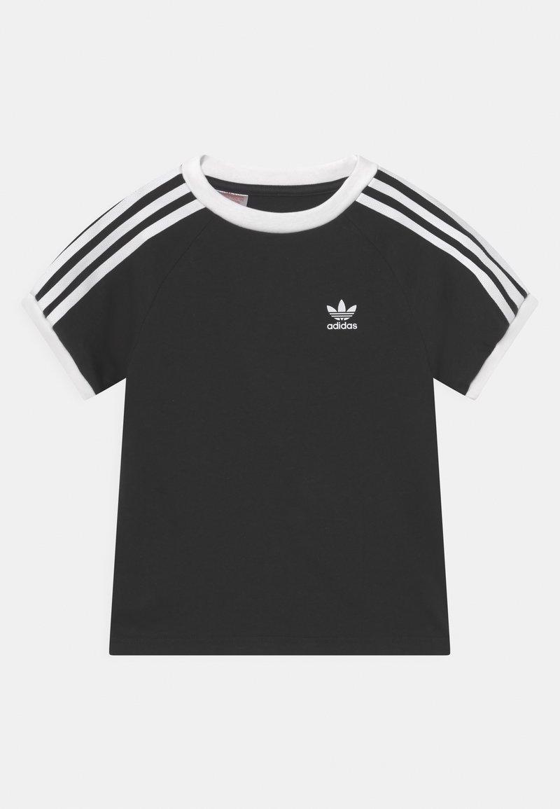 adidas Originals - 3 STRIPES TEE UNISEX - Print T-shirt - black/white