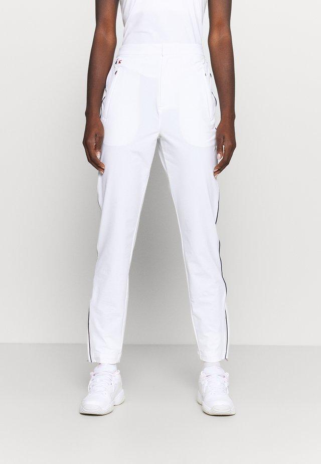OLYMP TRACK PANT - Spodnie treningowe - white/navy blue