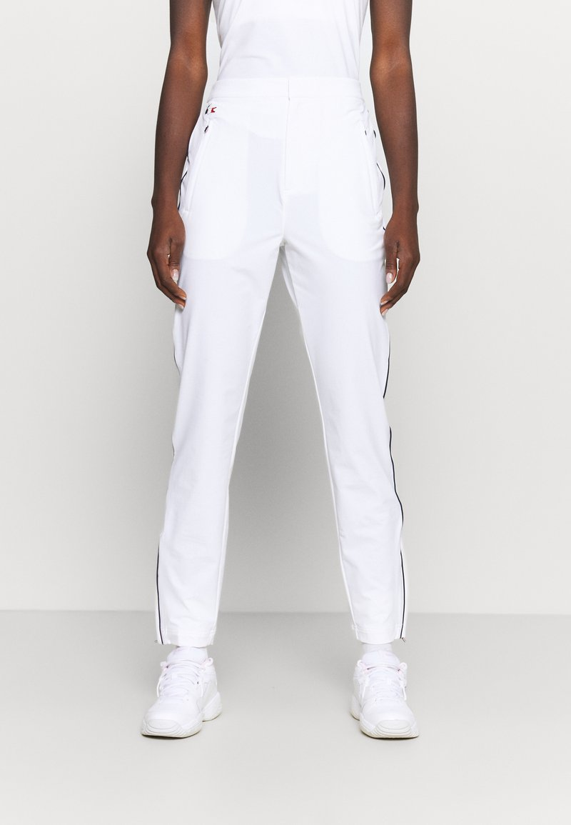 Lacoste Sport - OLYMP TRACK PANT - Tracksuit bottoms - white/navy blue