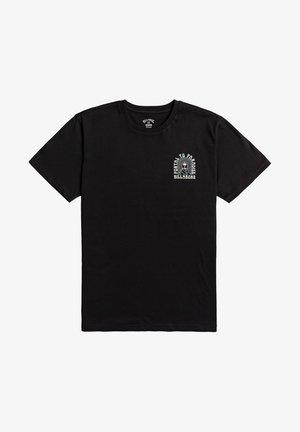 PORTAL  - Print T-shirt - black