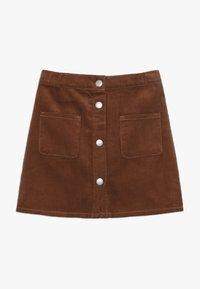 Benetton - SKIRT - Áčková sukně - brown - 0