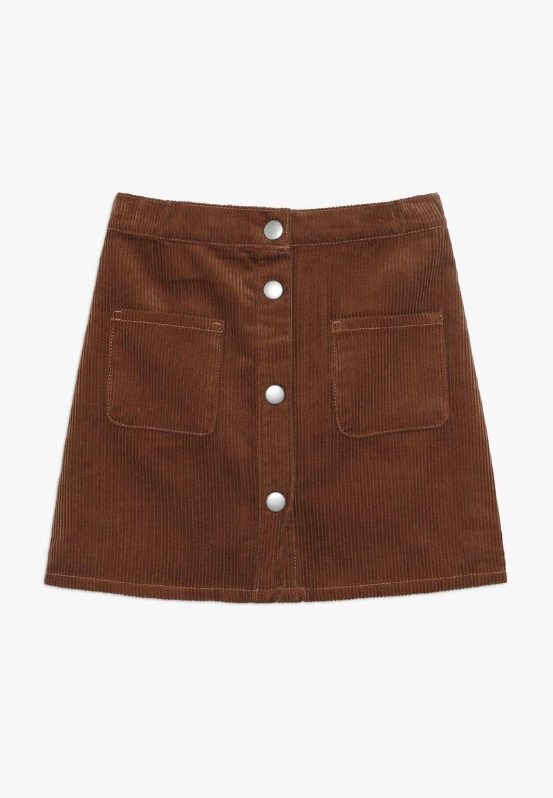 Benetton - SKIRT - Áčková sukně - brown
