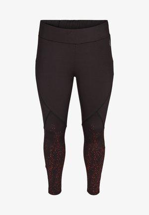 Leggings - Trousers - red splash