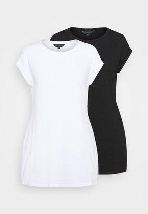 LONGLINE TEE 2 PACK - Jednoduché triko - black