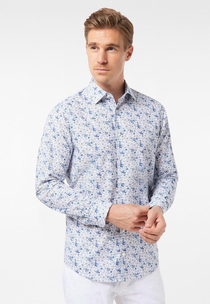 Pierre Cardin - GEBLÜMT - MODERN FIT - Shirt - light blue
