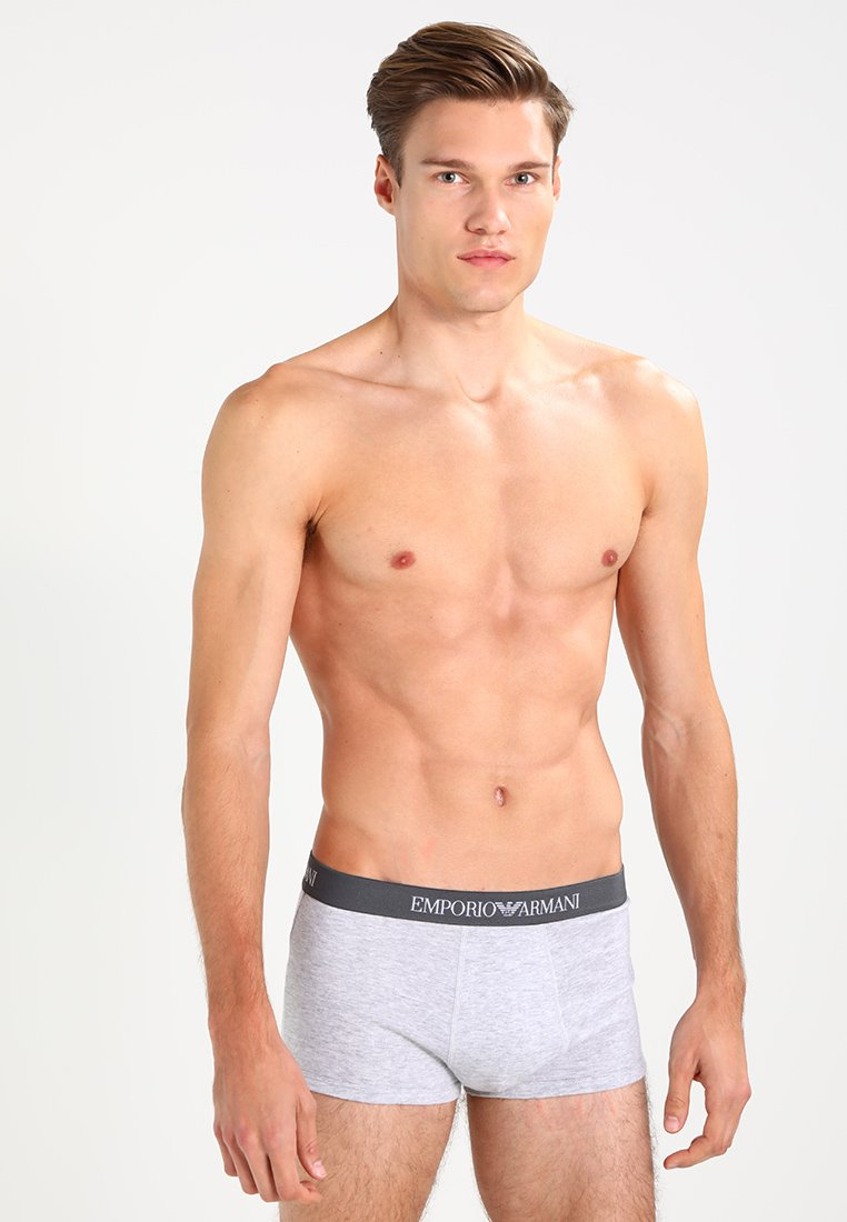 Emporio Armani - TRUNK 3 PACK - Panties - white/heather gray/navy blue