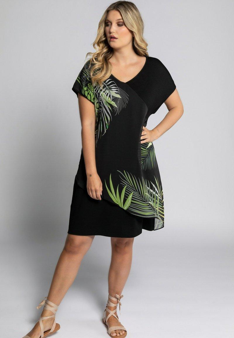Ulla Popken - Jersey dress - schwarz