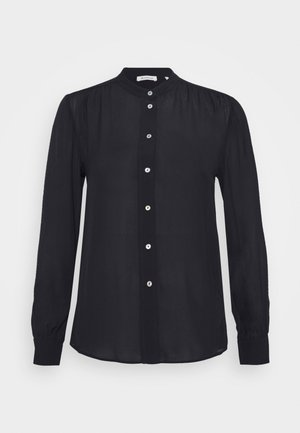 BLOUSE WITH GATHERING DETAIL - Skjorte - black