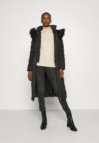 Guess - SOFIA LONG JACKET - Down coat - jet black - 1
