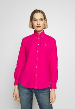 RELAXED LONG SLEEVE SHIRT - Button-down blouse - accent pink