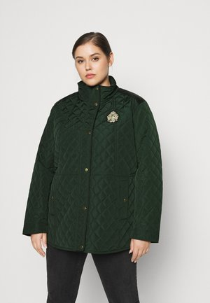 CREST QUILTED JACKET - Overgangsjakker - hunter green
