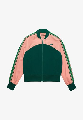 Training jacket - rose / vert / vert