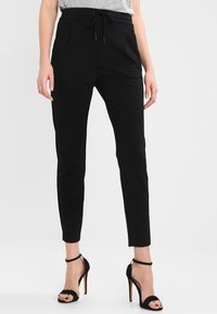 Vero Moda - VMEVA LOOSE STRING PANTS - Bukser - black - 0