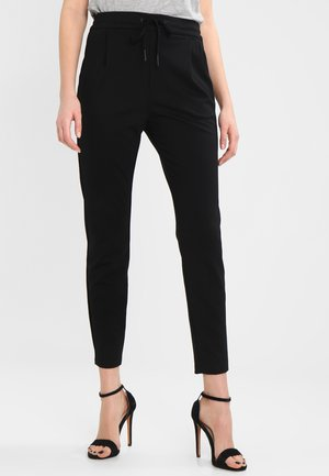 VMEVA LOOSE STRING PANTS - Tygbyxor - black