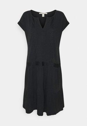 STRUC TAPE DRESS - Jerseyjurk - black