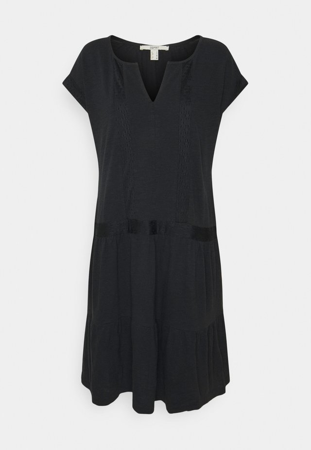 STRUC TAPE DRESS - Trikoomekko - black